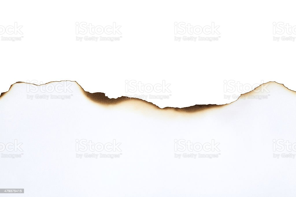 Burnt Paper Edge stock photo