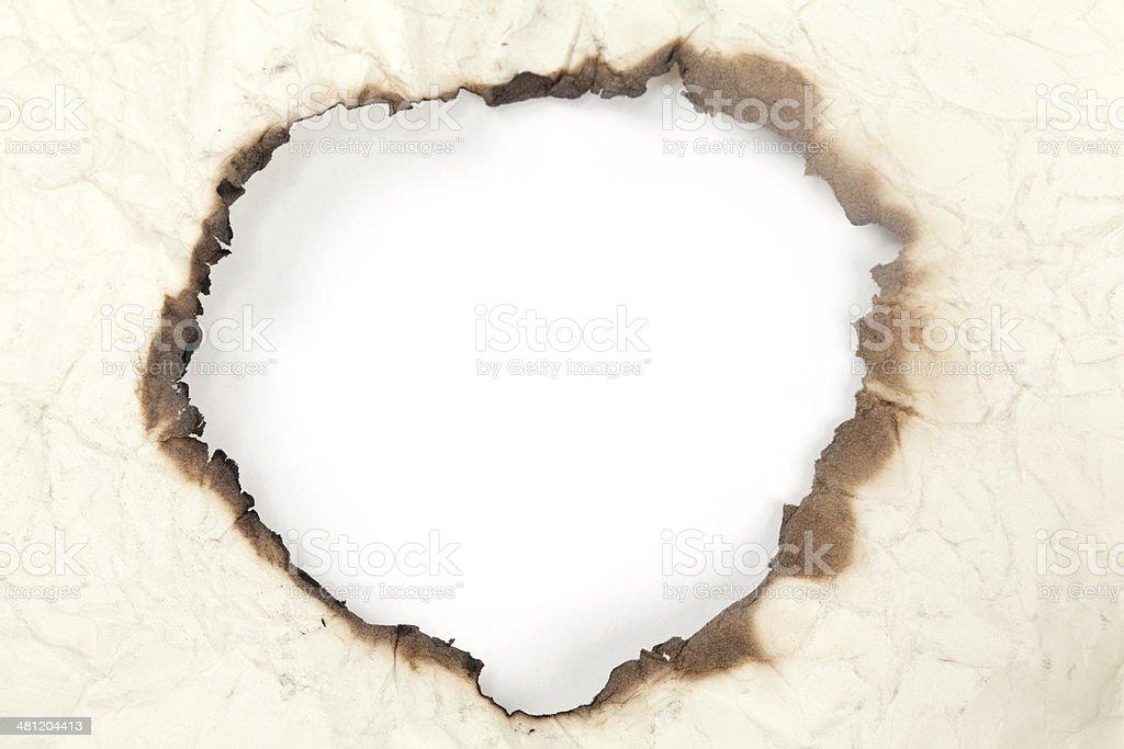 Burnt Paper Edge royalty-free stock photo