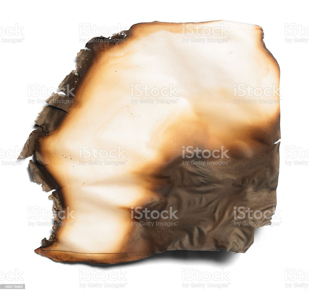 burnt paper from a fire stock photo