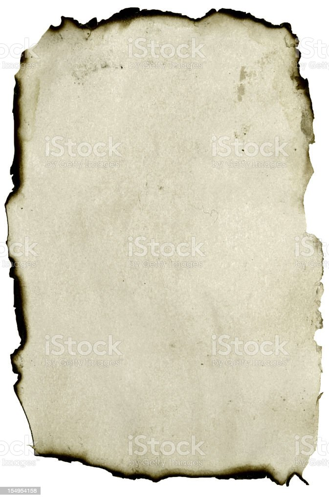 burnt paper stock photo