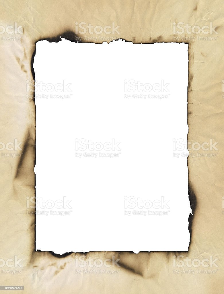 Burnt paper (XXXL) stock photo