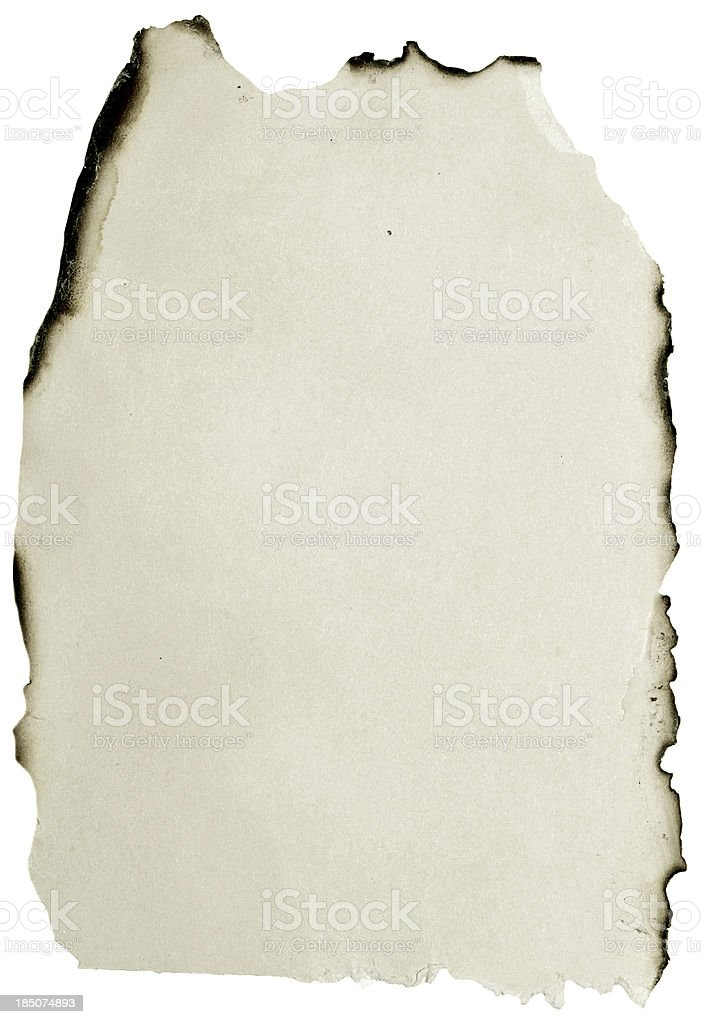 burnt paper royalty-free stock photo