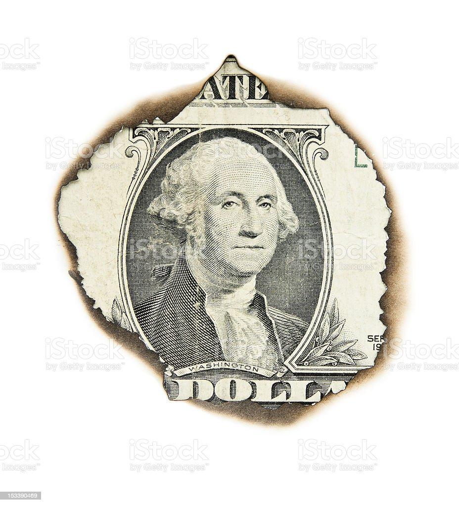 Burnt portrait of  washington. royalty-free stock photo