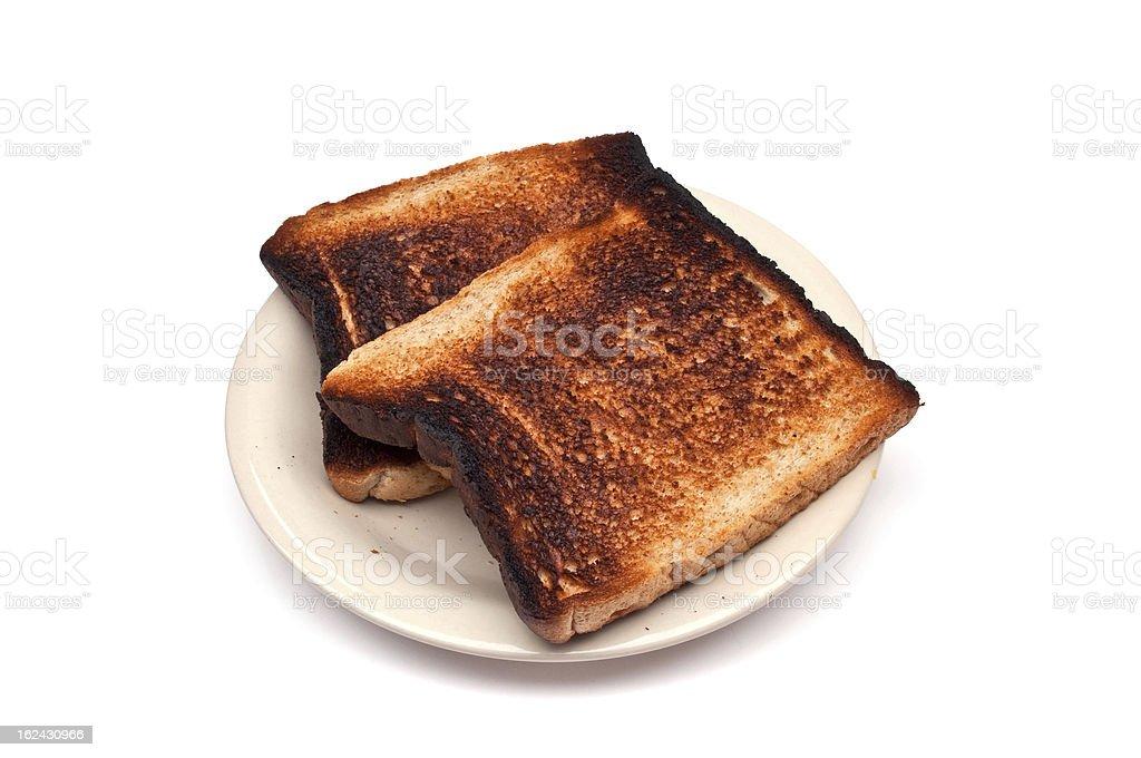 burnt toast stock photo