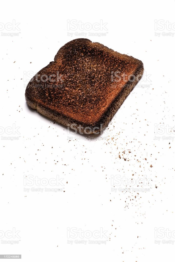 burnt toast stock photo