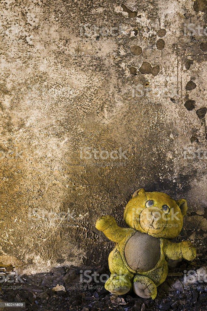 Burnt wall bear royalty-free stock photo