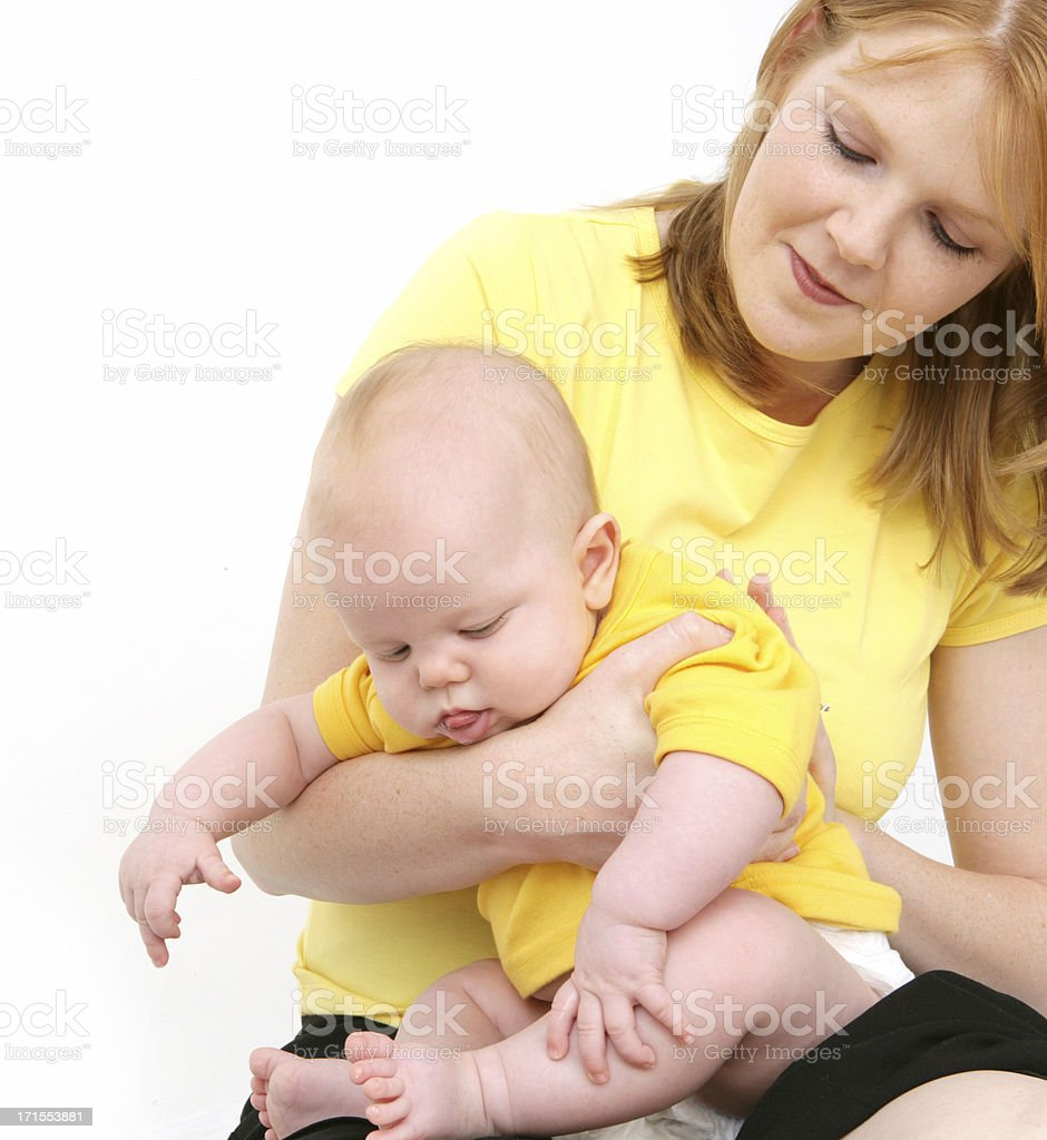 Burping Baby stock photo