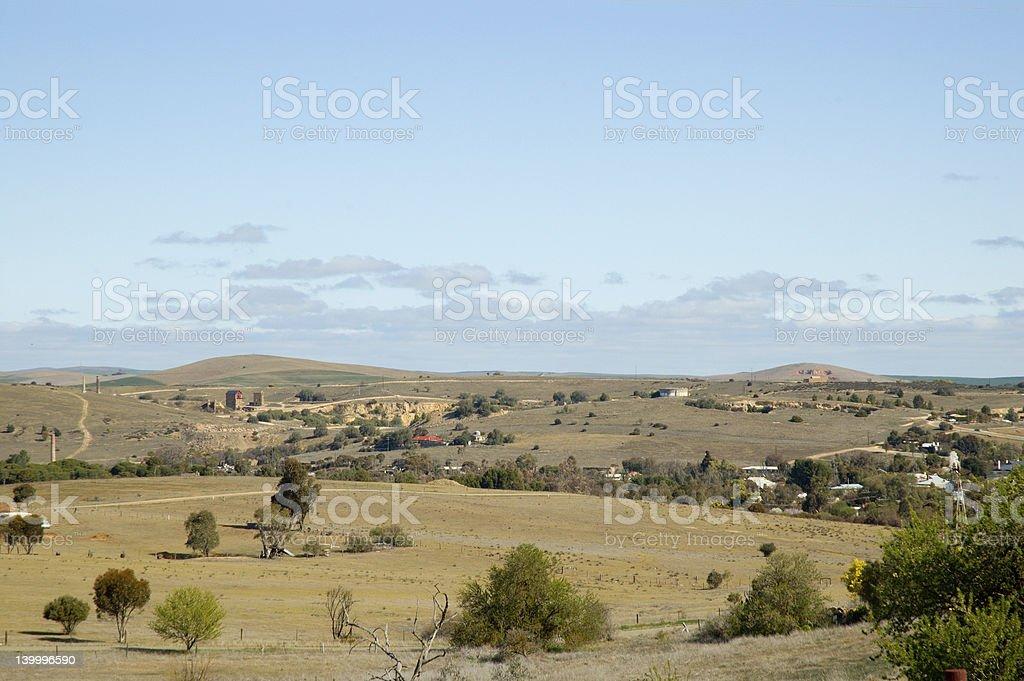 Burra Mine Landscape stock photo
