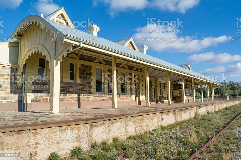 Burra Railway Station - Editorial Use stock photo