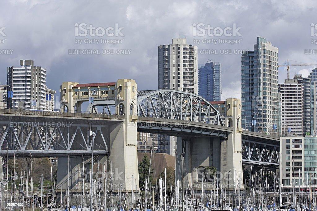 Burrard Bridge Over False Creek, Vancouver, British Columbia, Canada stock photo