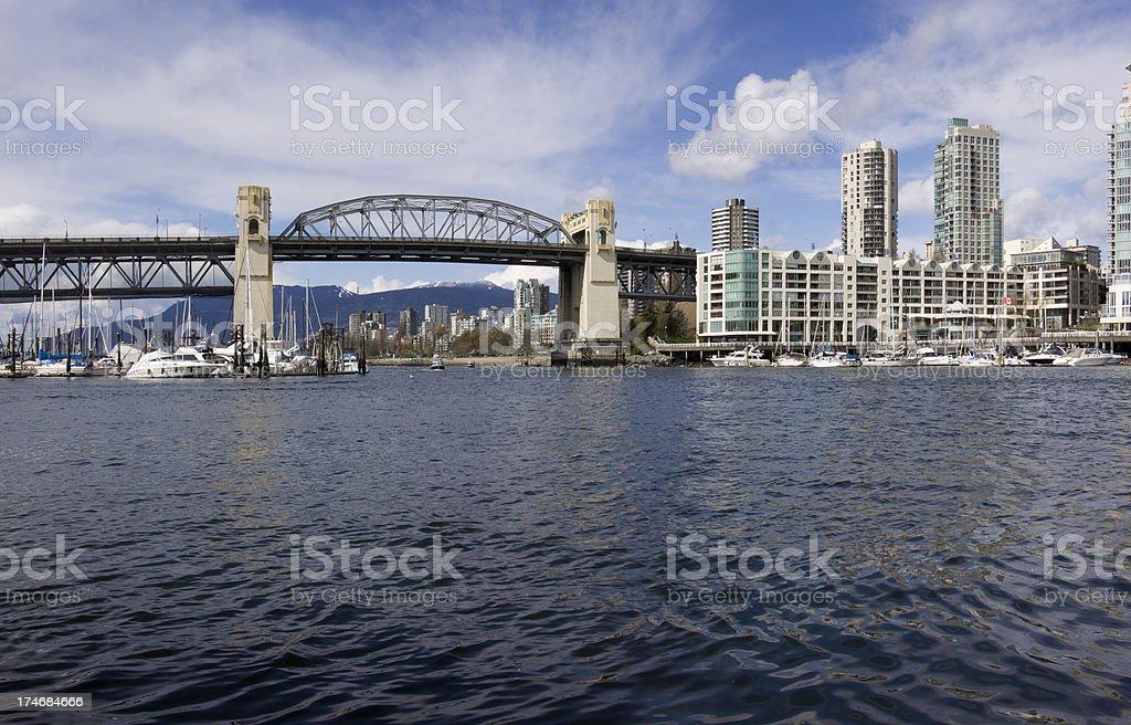 Burrard Bridge panorama royalty-free stock photo