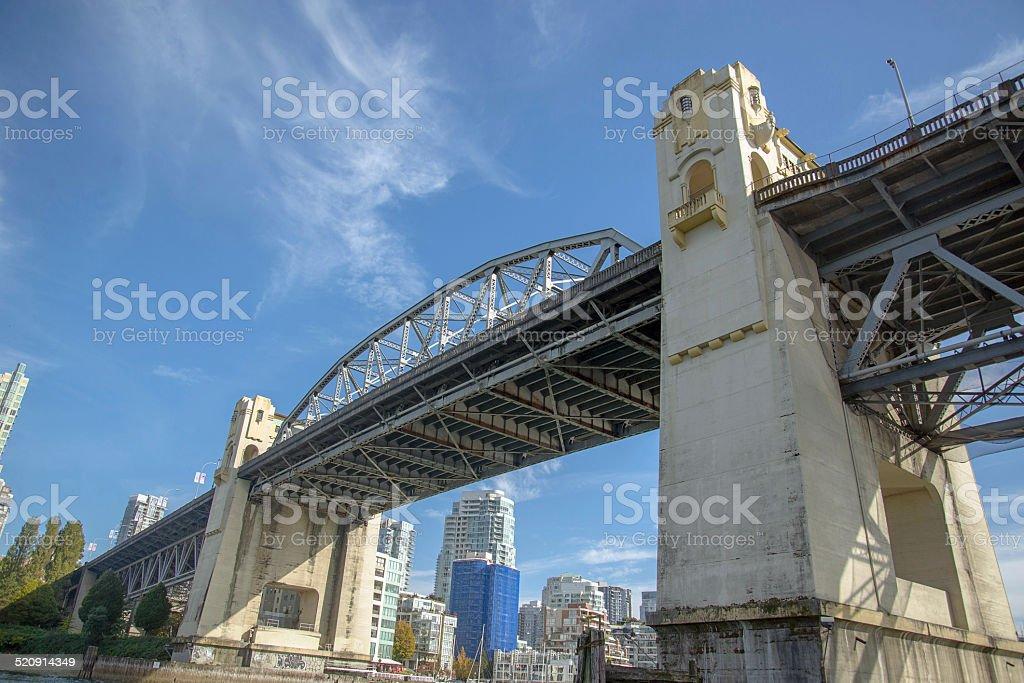 Burrard Bridge Vancouver BC stock photo