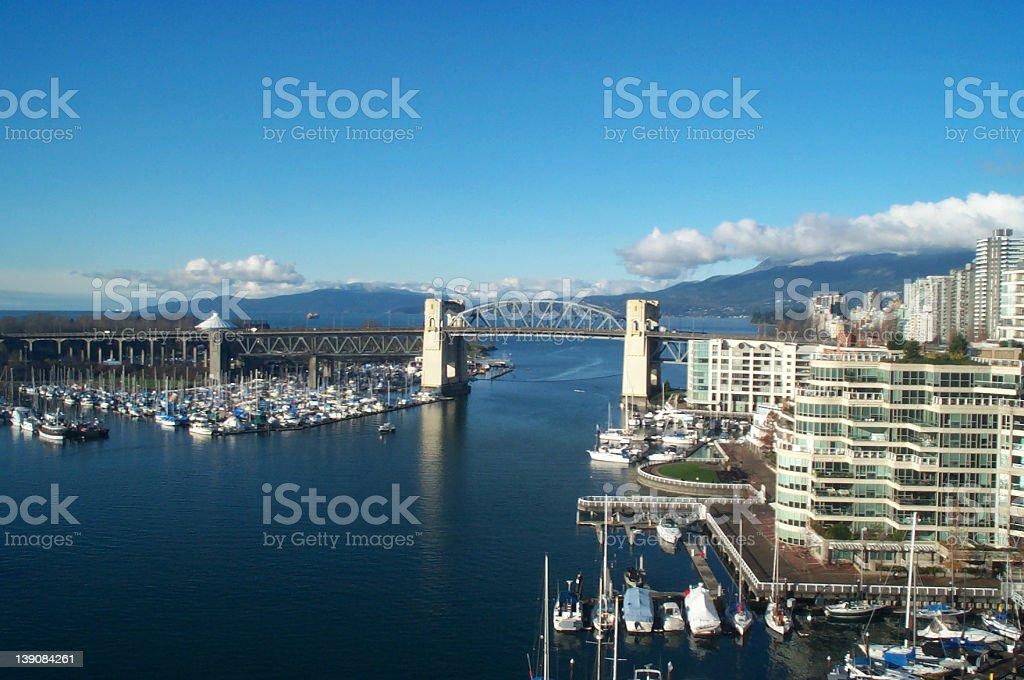 Burrard Bridge, Vancouver royalty-free stock photo