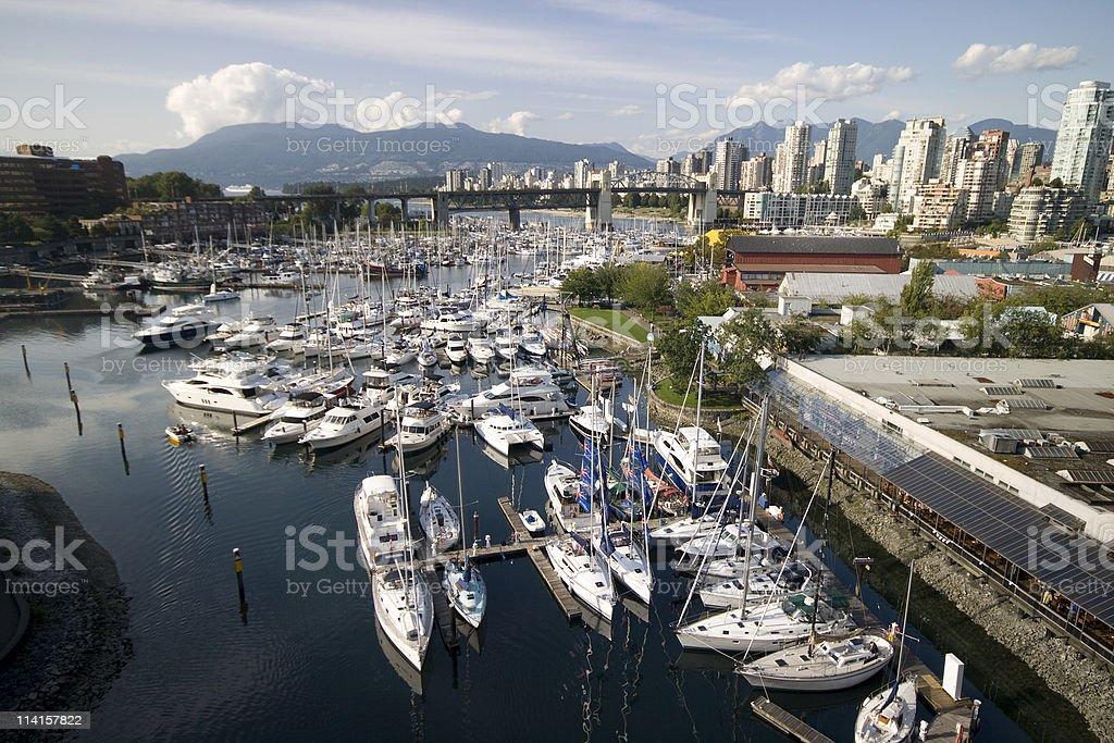 Burrard Street Bridge - False Creek, Vancouver royalty-free stock photo