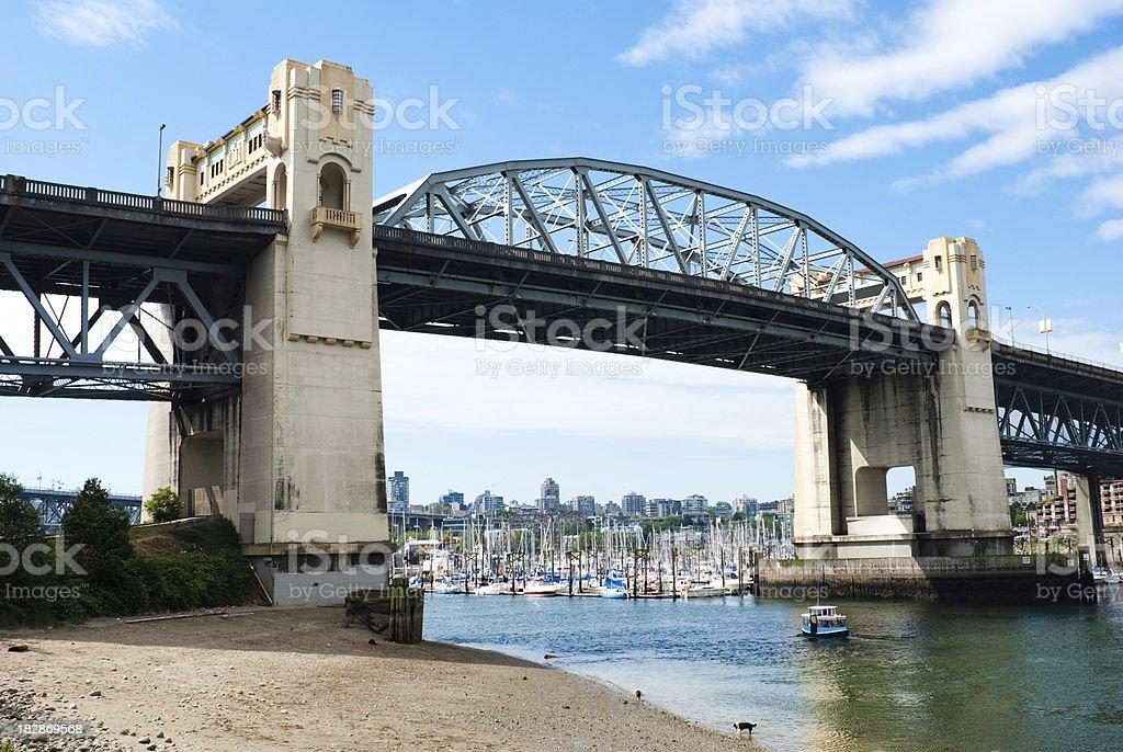 Burrard Street Bridge in Vancouver, British Columbia royalty-free stock photo
