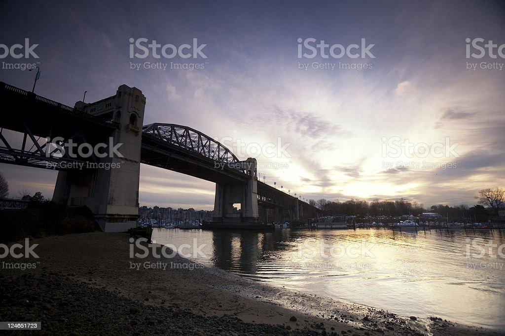Burrard Street Bridge, Vancouver stock photo