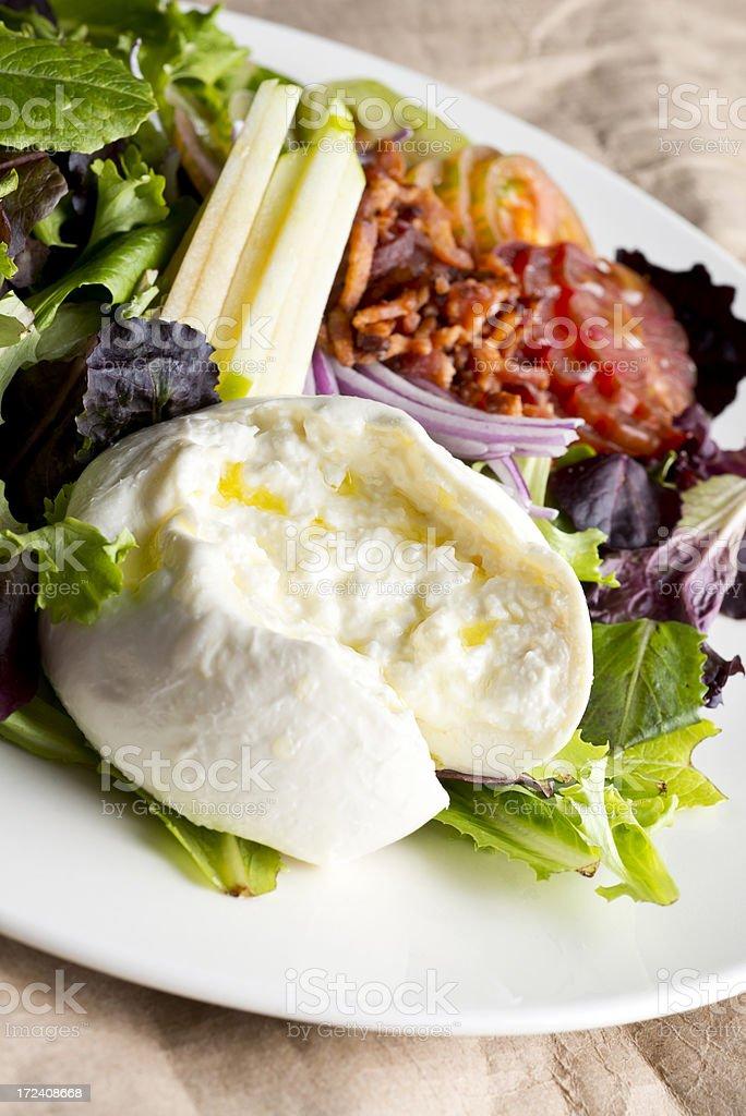 Burrata Cheese Salad royalty-free stock photo