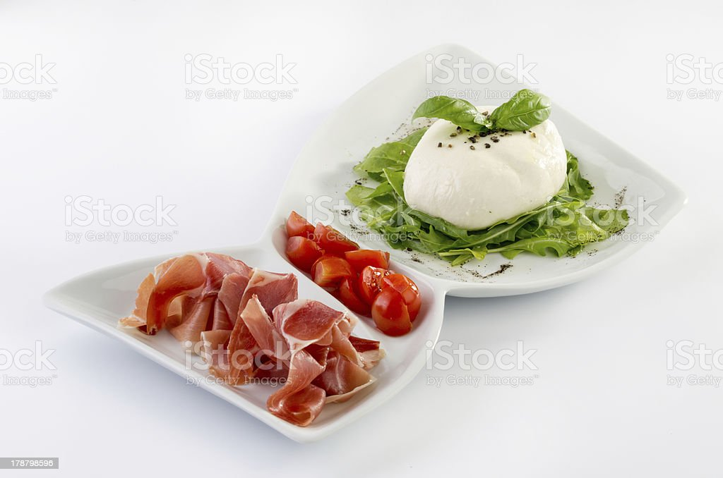 Burrata royalty-free stock photo