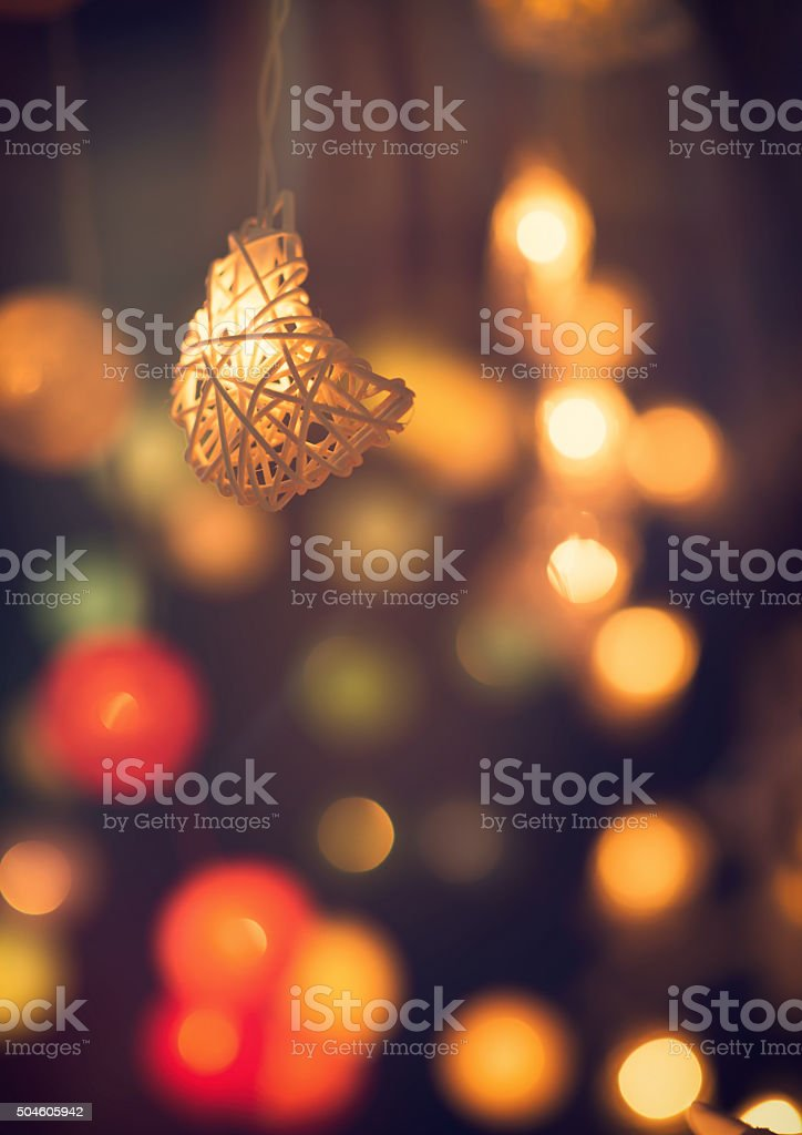 burred ramadan background stock photo