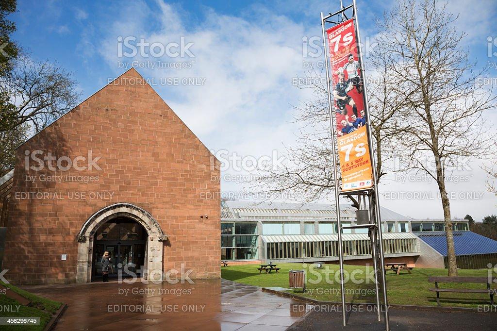 Burrell Museum Entrance stock photo