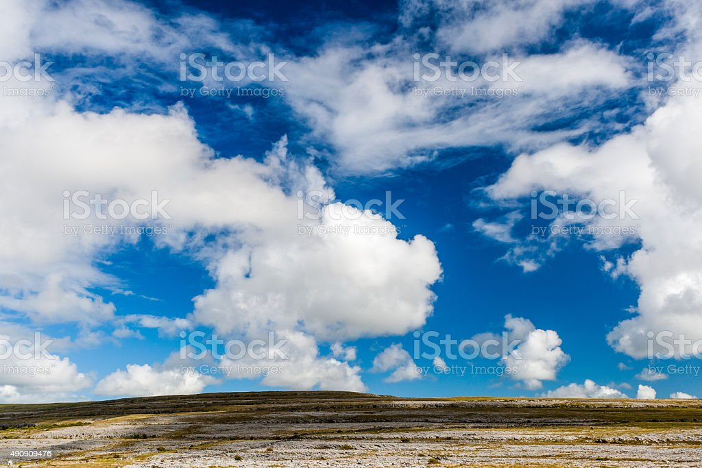 Burren landscape, County Clare, Ireland stock photo