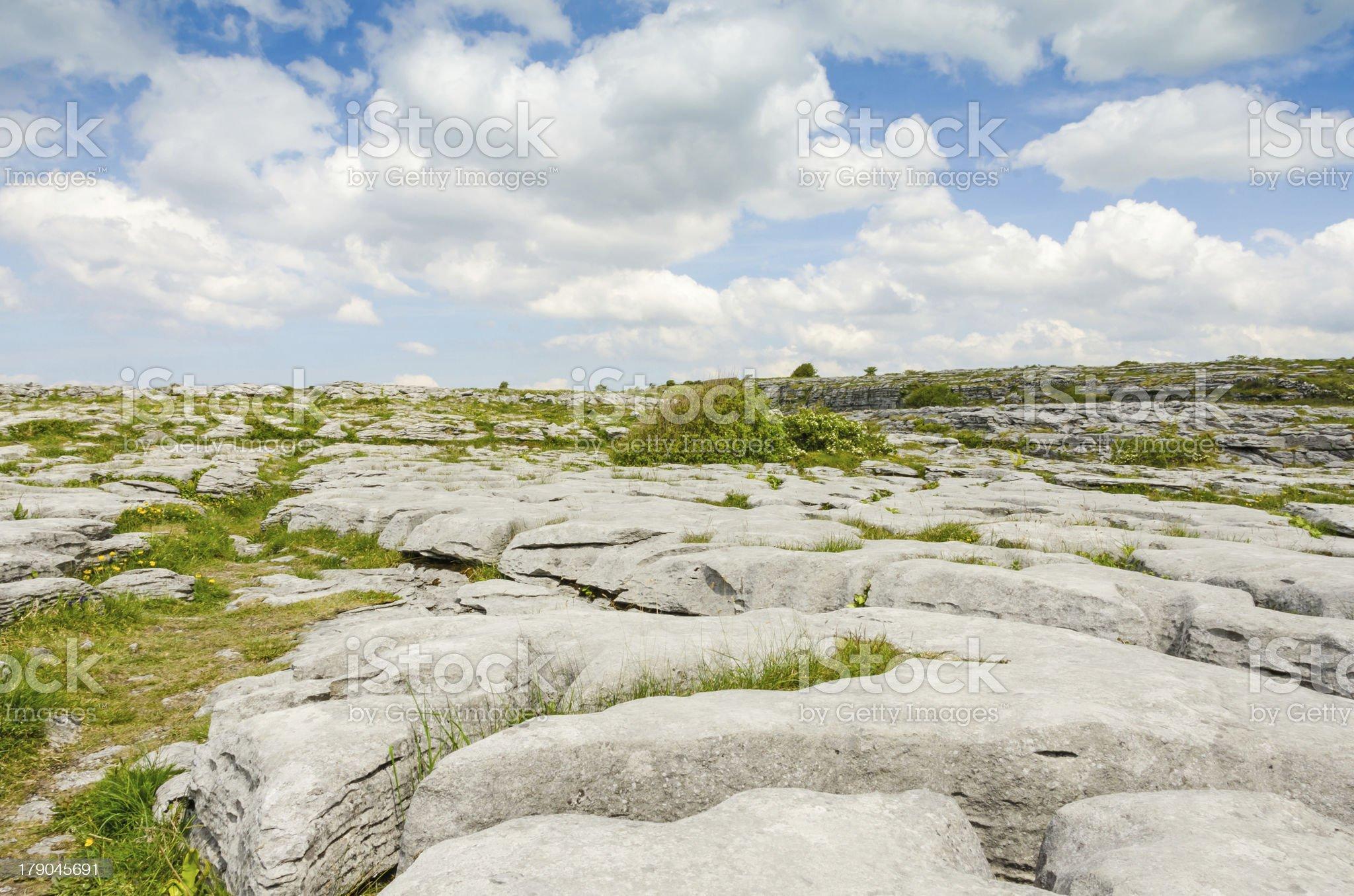 Burren National Park limestone landscape royalty-free stock photo