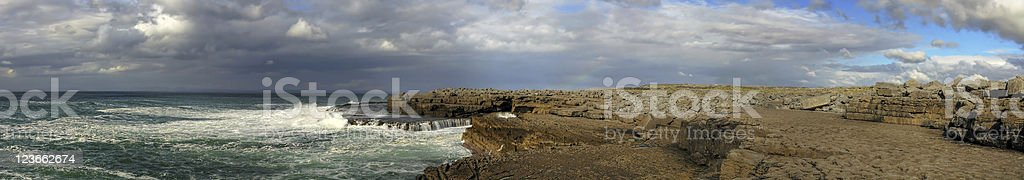 Burren view panoramic royalty-free stock photo