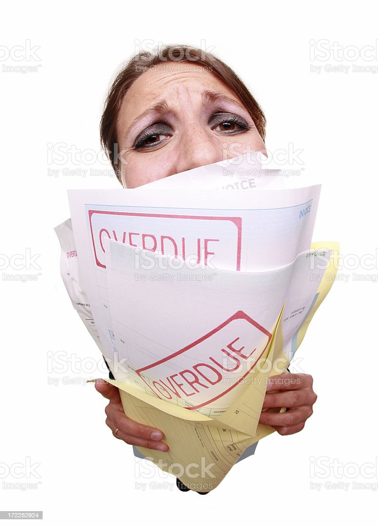 Burried In Debt royalty-free stock photo