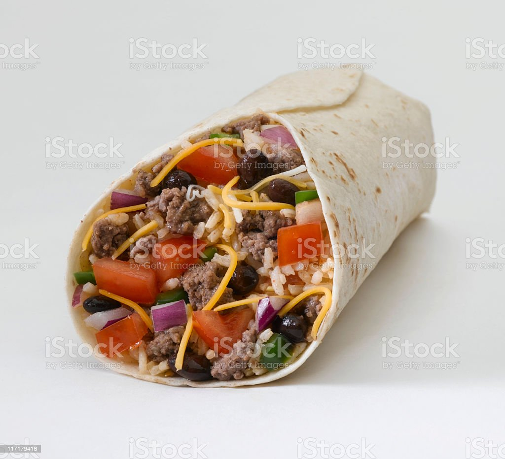 Burrito (ground beef) stock photo