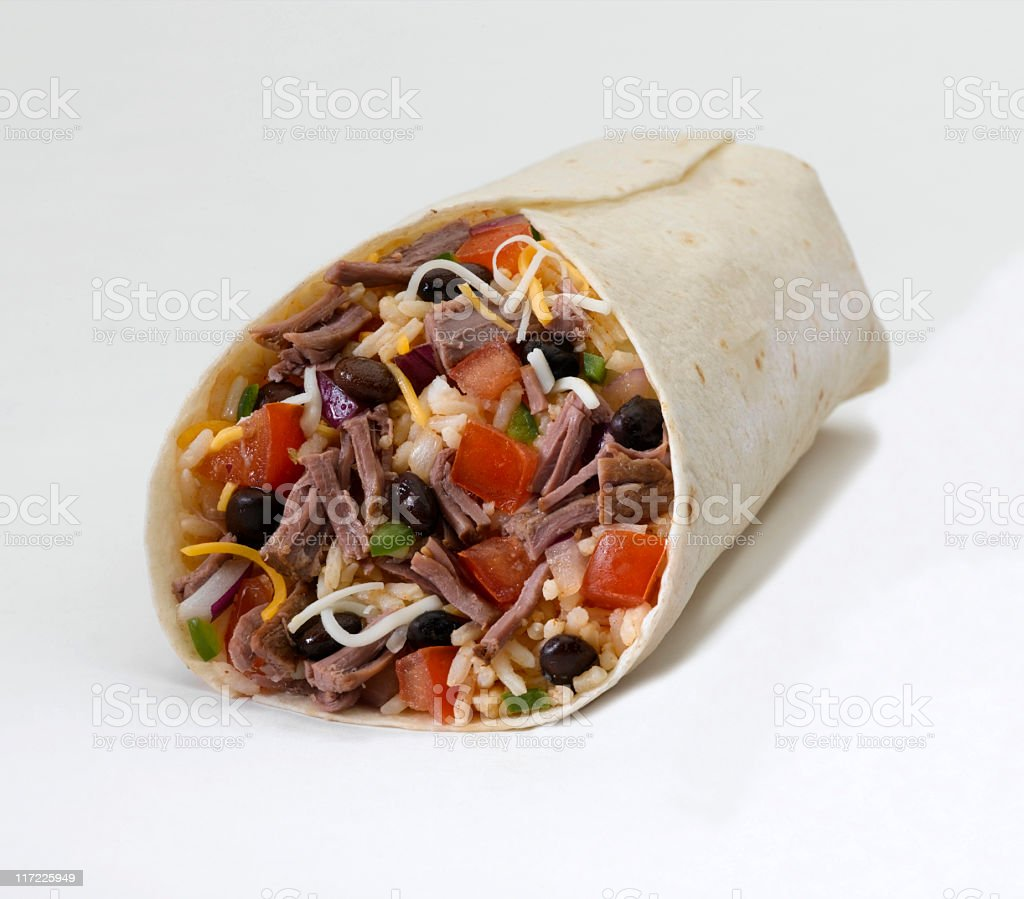 Burrito (shredded beef) stock photo