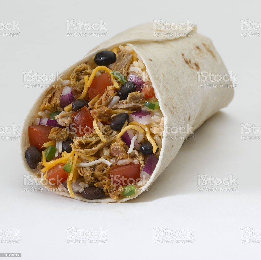 Burrito (pork) stock photo