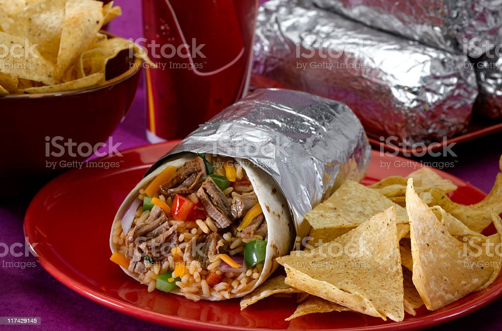 Burrito Plate stock photo