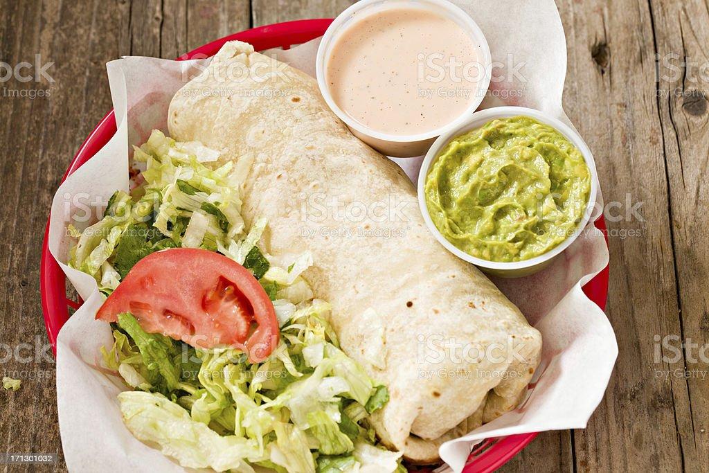 Burrito To Go royalty-free stock photo