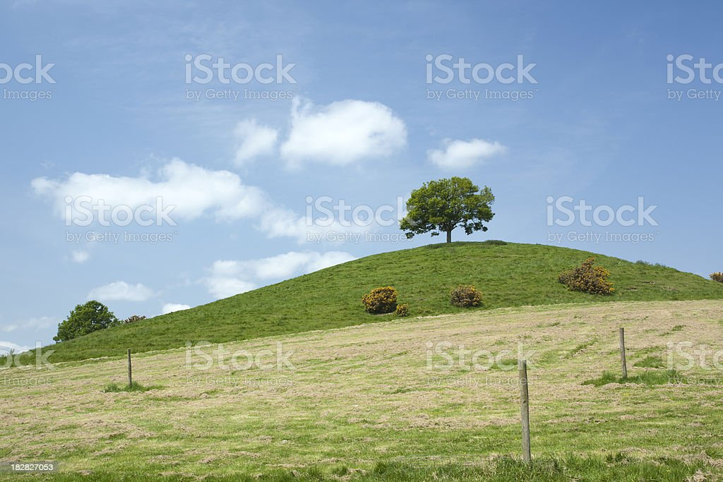 Burrow Hill. stock photo