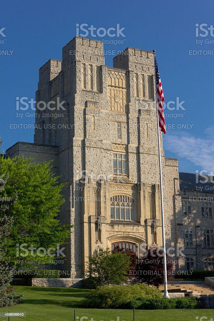 Burruss Hall at Virginia Tech University stock photo