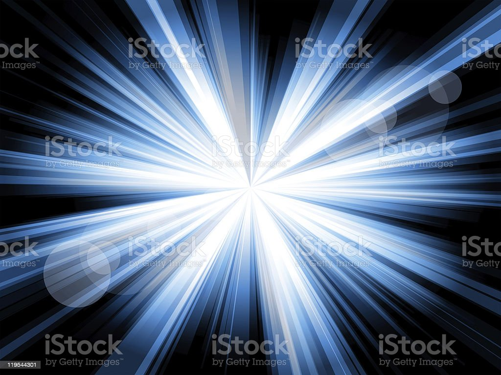 Burst of blue lines royalty-free stock photo