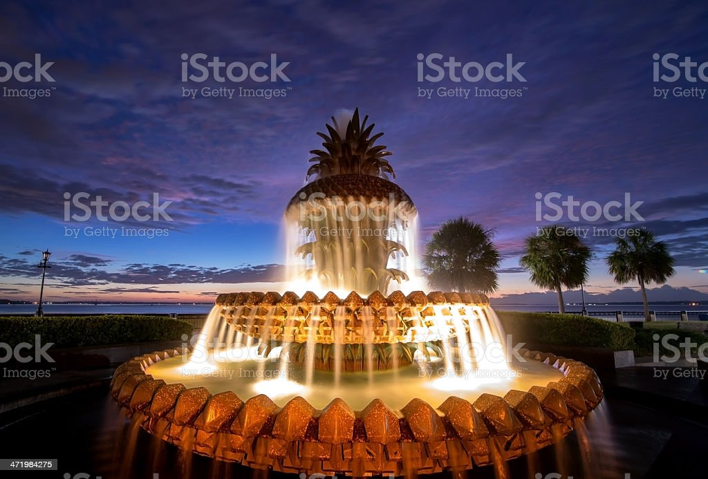 Burst of color at the Pineapple Fountain royalty-free stock photo
