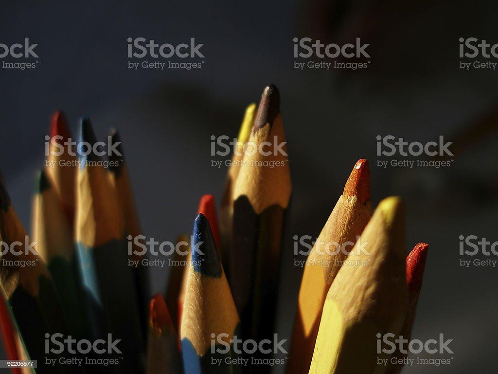 Knalliger Farbe Lizenzfreies stock-foto