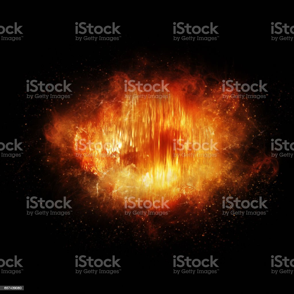 Burst of energy stock photo