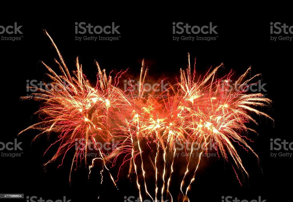 Burst of Fireworks, Horizontal! stock photo