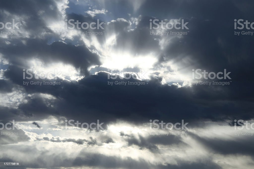Burst of Sun Rays royalty-free stock photo