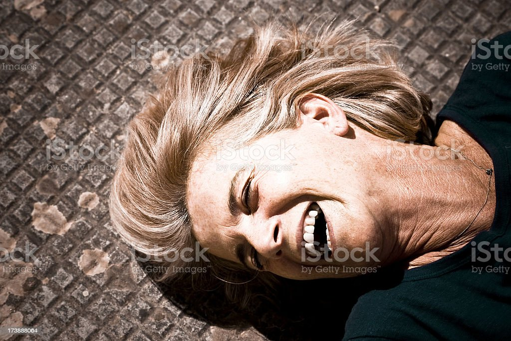 Burst out laughing royalty-free stock photo