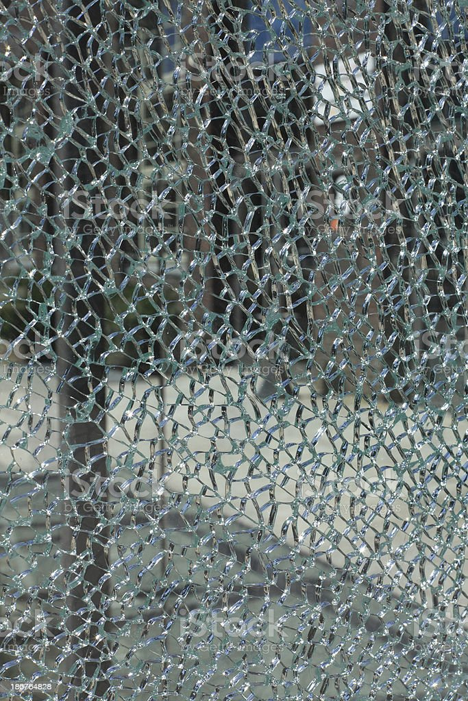 bursted and broken glass royalty-free stock photo