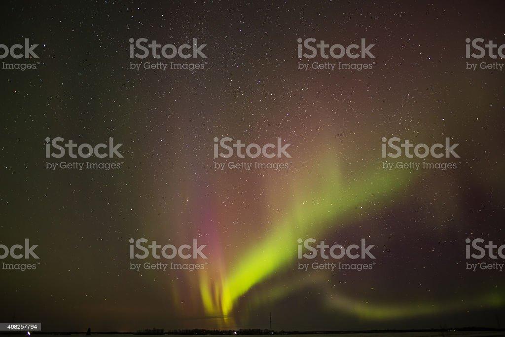 Bursting aurora brealis stock photo