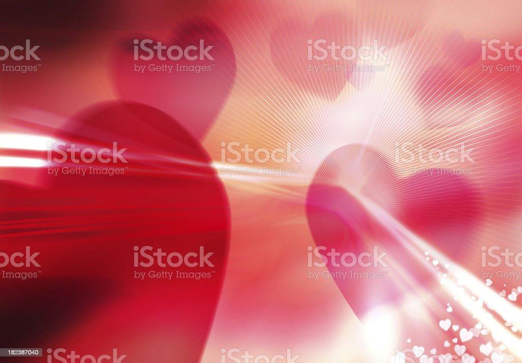 bursting heart background royalty-free stock photo
