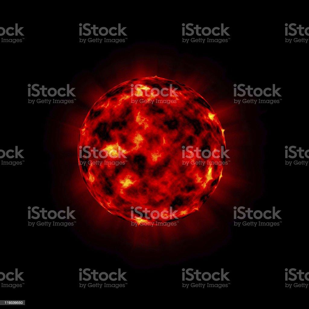 bursting planet royalty-free stock photo