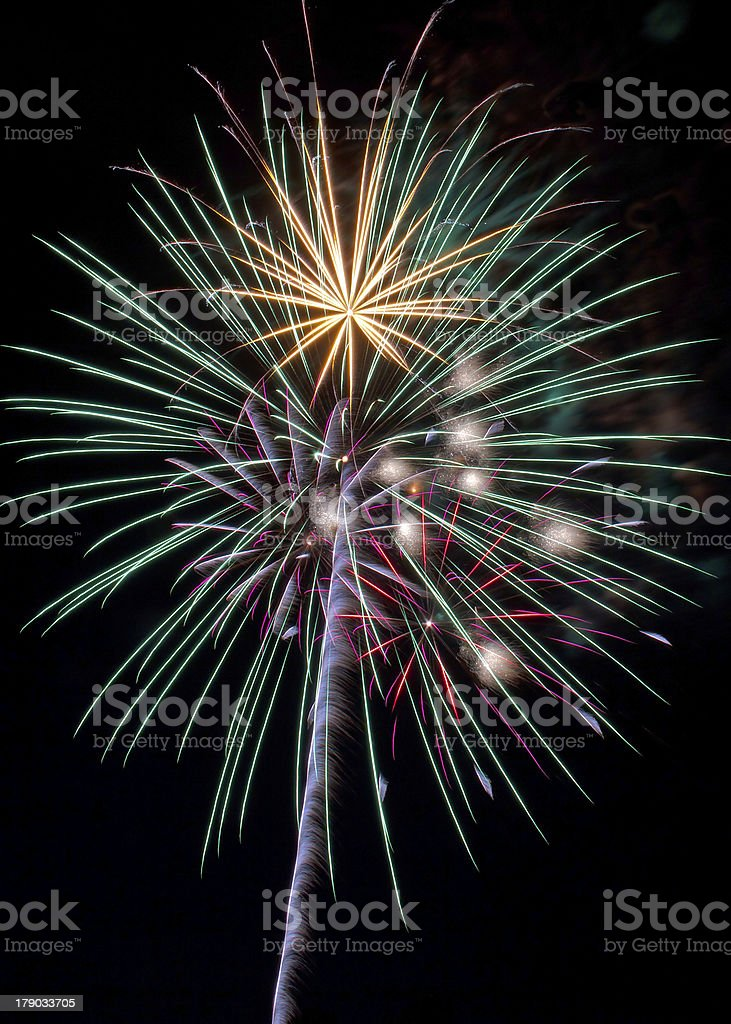 Esplosione Fuoco d'artificio foto stock royalty-free