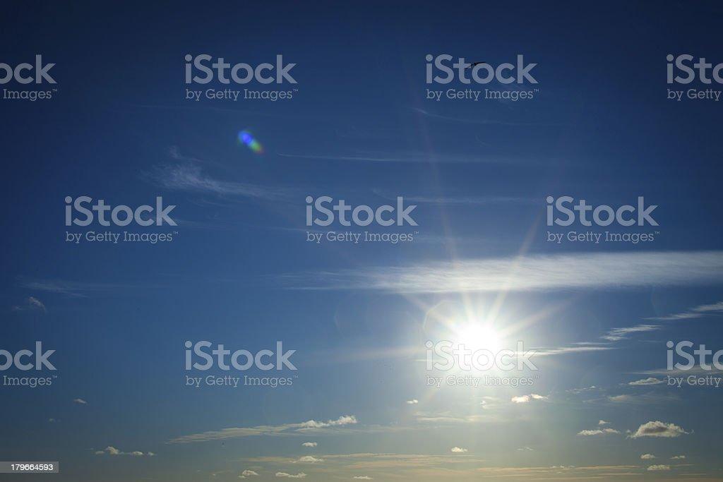 Bursting Sun royalty-free stock photo