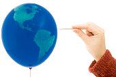 Bursting world balloon
