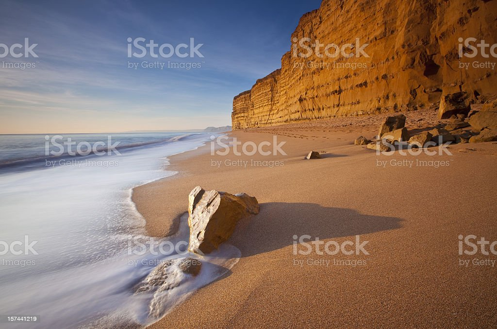 Burton Bradstock beach stock photo